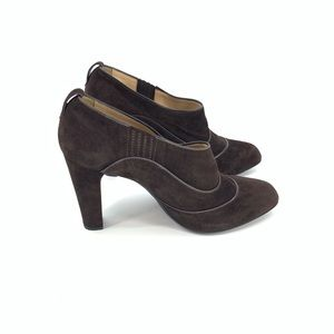 Tod's Heeled Booties Brown Suede Ankle Boots Heels